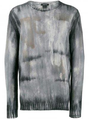 Толстовка с принтом Avant Toi. Цвет: серый