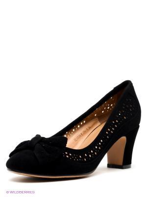 Туфли LENA MILAN. Цвет: черный