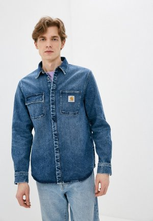Рубашка джинсовая Carhartt WIP. Цвет: синий