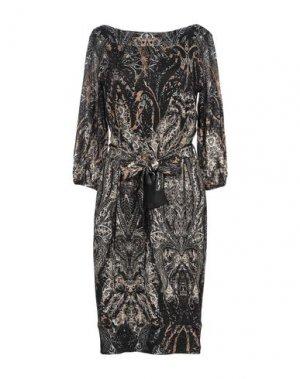 Платье до колена FUZZI. Цвет: черный