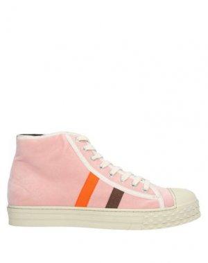 Высокие кеды и кроссовки JUCCA. Цвет: розовый