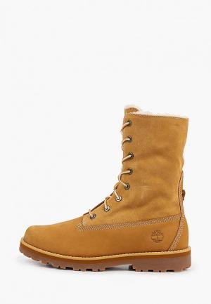 Ботинки Timberland COURMA KID Warm Lined Roll-Top Boot. Цвет: коричневый