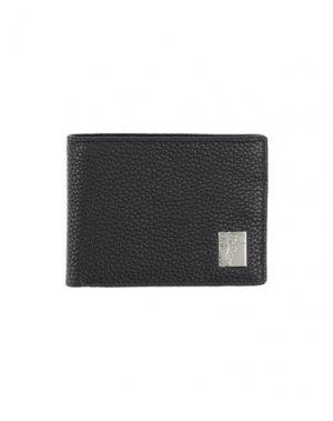 Бумажник VERSACE COLLECTION. Цвет: черный