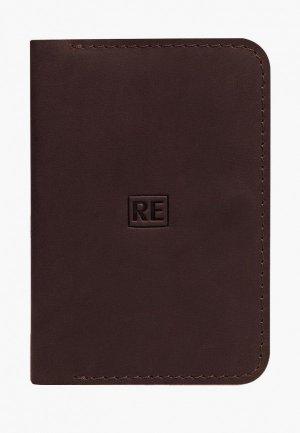 Обложка для документов Reconds. Цвет: коричневый