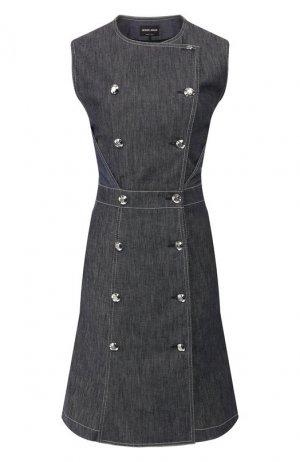 Джинсовое платье Giorgio Armani. Цвет: синий
