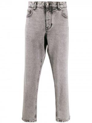 Зауженные джинсы с пятью карманами AMI Paris. Цвет: серый