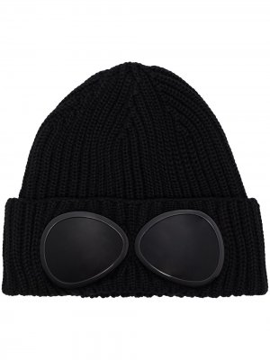 Black goggle wool beanie hat C.P. Company. Цвет: черный