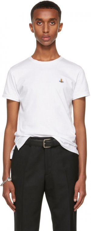 White Peru Orb T-Shirt Vivienne Westwood. Цвет: white
