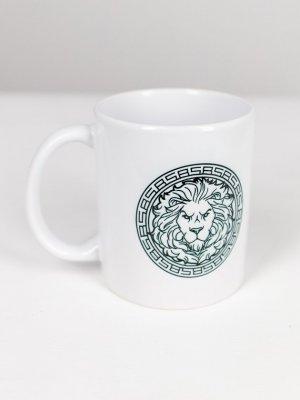 Кружка BS LION Black Star Wear. Цвет: белый