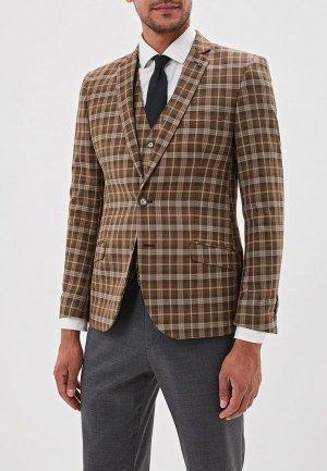 Пиджак и жилет Laconi. Цвет: коричневый