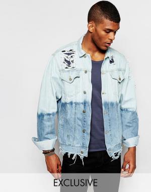 Джинсовая куртка с эффектом деграде Reclaimed Vintage