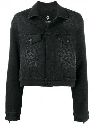 Джинсовая куртка с принтом Marcelo Burlon County of Milan. Цвет: черный