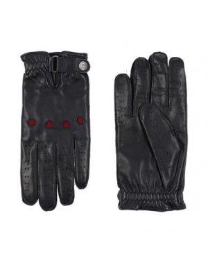 Перчатки CORNELIANI ID. Цвет: черный