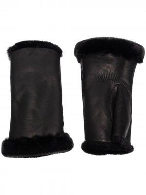 Перчатки-митенки Agnelle. Цвет: черный