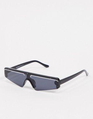 Черные солнцезащитные очки-маска -Черный AJ Morgan