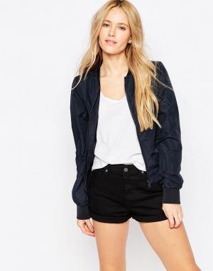 Куртка-пилот Brave Soul. Цвет: темно-синий