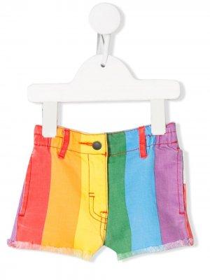 Шорты в разноцветную полоску Stella McCartney Kids. Цвет: синий