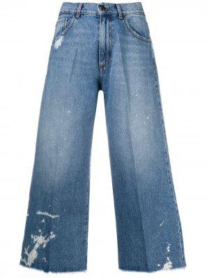 Укороченные джинсы с завышенной талией Semicouture. Цвет: синий