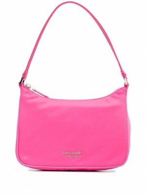 Маленькая сумка-тоут с логотипом Kate Spade. Цвет: розовый