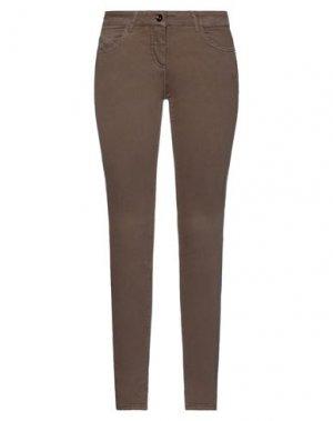 Джинсовые брюки PATRIZIA PEPE. Цвет: коричневый