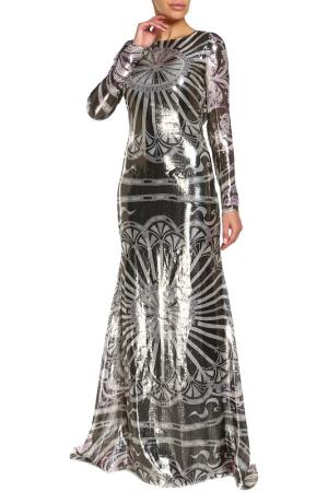 Платье Emilio Pucci. Цвет: серебряный