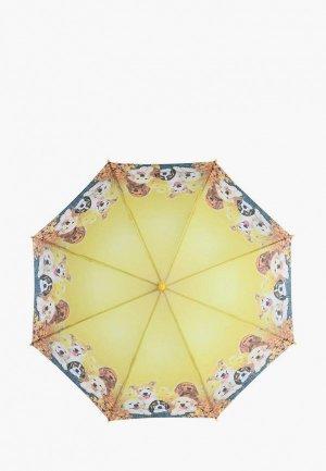 Зонт-трость Lamberti. Цвет: желтый