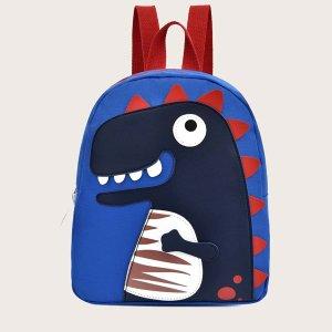 Детский рюкзак с принтом SHEIN. Цвет: синий