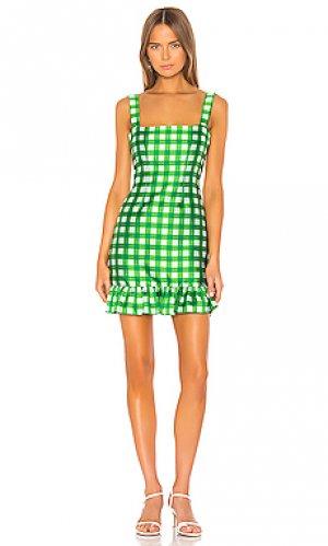 Мини платье stella Cynthia Rowley. Цвет: зеленый