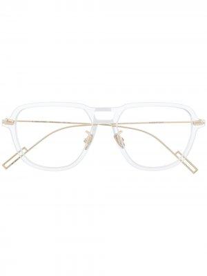 Очки DiorDisappear03 Dior Eyewear. Цвет: золотистый