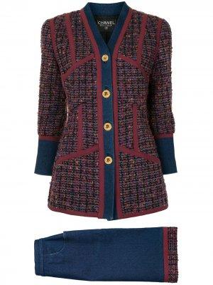 Джинсовый костюм с юбкой Chanel Pre-Owned. Цвет: разноцветный