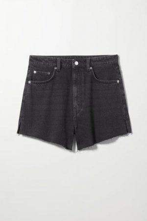 Джинсовые шорты Early Weekday. Цвет: черный