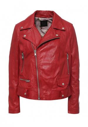 Куртка кожаная Blouson BL033EWQGN33. Цвет: красный