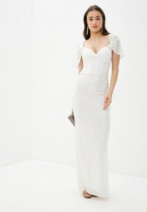 Платье Goddiva. Цвет: белый