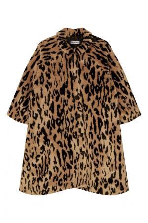Пальто с контрастным рисунком Balenciaga. Цвет: multicolor