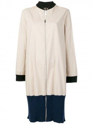 Пальто на молнии в стиле колор-блок Jean Paul Gaultier Pre-Owned. Цвет: нейтральные цвета
