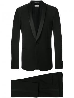 Классический костюм-двойка Saint Laurent. Цвет: чёрный