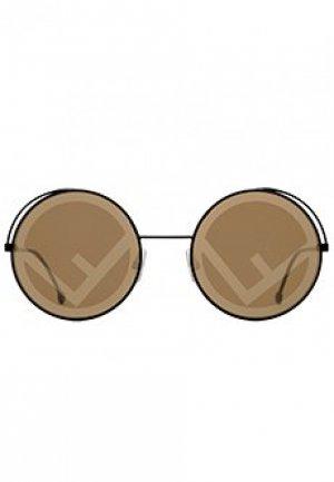 Очки FENDI. Цвет: коричневый