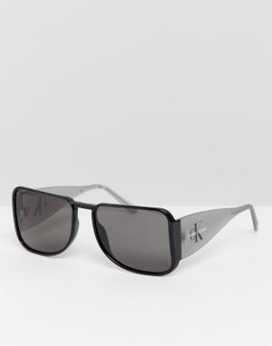 Квадратные солнцезащитные очки CKJ18501S-Черный Calvin Klein Jeans