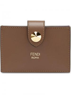 Визитница Fendi. Цвет: коричневый