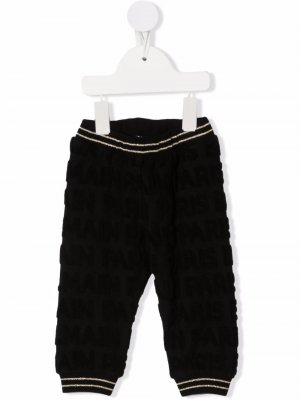 All-over monogram trousers Balmain Kids. Цвет: черный