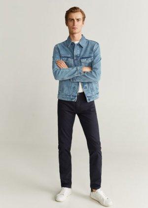 Джинсовая куртка среднего тона - Ryan6 Mango. Цвет: синий средний