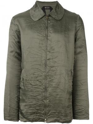 Пиджак с застежкой-молнией Nº21. Цвет: зелёный