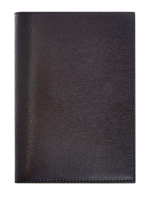 Обложка для документов и карт из сафьяновой кожи CANALI. Цвет: черный