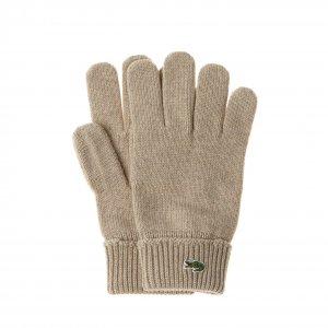 Перчатки Lacoste. Цвет: бежевый