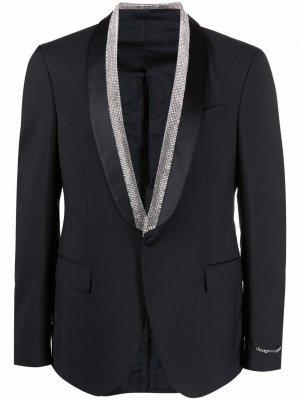 Вечерний пиджак с кристаллами Versace. Цвет: черный