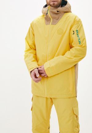 Куртка горнолыжная Burton M HILLTOP JK. Цвет: желтый