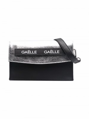 Logo-print panelled shoulder bag Gaelle Paris Kids. Цвет: черный