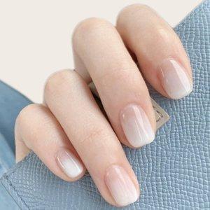 24шт минималистичный Накладные ногти & 1 лист лента SHEIN. Цвет: белый