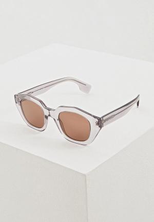 Очки солнцезащитные Burberry BE4288 378873. Цвет: серый