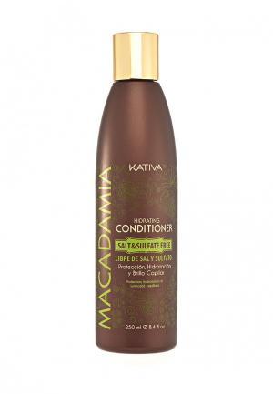 Кондиционер для волос Kativa Увлажняющий 250 мл. Цвет: белый
